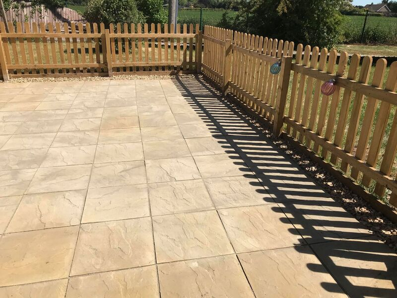 Landscaping Wisbech patio.